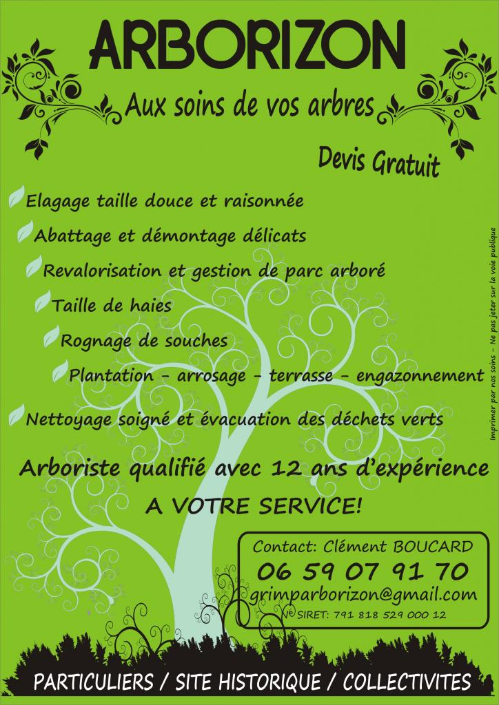 Arborizon flyers commercial for Au jardin d alice flers
